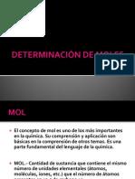 DETERMINACIÓN DE MOLES