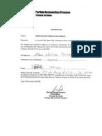 Tribunal de Honor de partido TRAIDOR cesa a congresista críticon