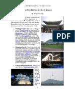 Top Ten Things to Do in Korea