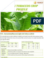 SUNCO Tobacco India Crop Profile Catalog