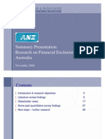 Financial Exclusion Summary Presentation