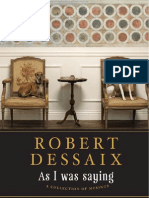 March Sample Chapter - As I Was Saying, by Robert Dessaix