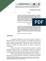 A COMPLEXA DESCENTRALIZAÇÃO DAS POLÍTICAS SOCIAIS - EDVAL BERNARDINO CAMPOS