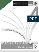 Antología Lecturas cuarto grado