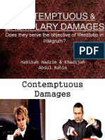 Contemptuos & Exemplary Damages