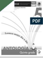Antología Lecturas quinto grado