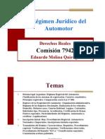 Clase 25 Regimen jurídico automotor
