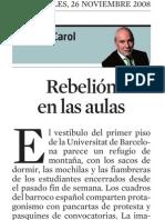 Marius Carol. Rebelión en Las Aulas