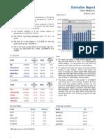 Derivatives Report 9th March 2012