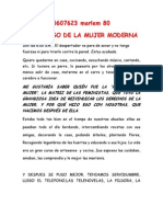 MONÓLOGO DE LA MUJER MODERNA