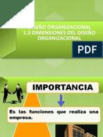 1.3 diseño organizacional