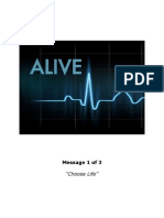 """""""Choose Life"""" (from the """"Alive"""" series)"""