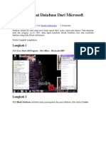 Cara Membuat Database Dari Microsoft Access 2007