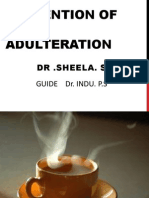 Prevention of Food Adulteration Dr.sheela