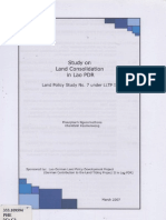 Study on and Consolidation in Lao PDR Land Policy Study No.7 Under LLTP II