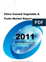 China Canned Vegetable Fruits Market Report
