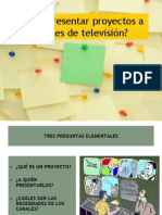 presentar proyecto tv