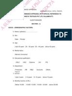 21752336 Performance Appraisal Questionnaire New