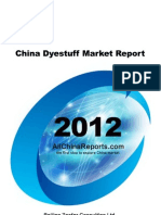 China Dyestuff Market Report