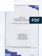 Study on Stute Lang Leases and Concession in Lao PDR Land Policy Study No.4 Under LLTP II