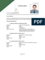 CV of Toufiq
