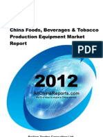 China Foods Beverages Tobacco Production Equipment Market Report