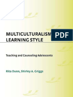 Multiculturalism and Learning Style Teaching and Counseling