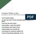 FIS - 4F Water Poem -- Min Htet0809