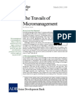 The Travails of Micromanagement