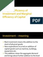 Marginal Efficiency of Capital