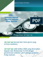 Al-Qur'an Sebagai Sumber Ajaran Islam Pertama