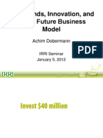 Megatrends, innovation, and IRRI's future business model