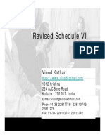 Presentation on Revised Schedule VI by Sri Vinod Kothari
