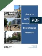 Sustainable Transpo Performance