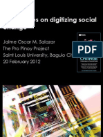 Some Notes on Digitizing Social Change
