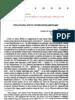 Barton, John - Vitalitatea eticii veterotestamentare [ΑΒ, 4-6, 1999]