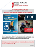 Affiche Handicapes Malte 2012 Good