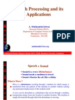 Speech Processing and Its Applications