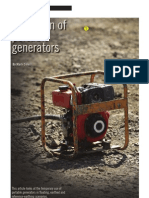 Operation of Portable Generators - IET Wiring Guide