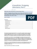 Architectural manifesto