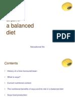 Soy as Part of a Balanced Diet En