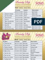 Sa Sa 34th Annivesary Beauty Dip Week 1 Winner List