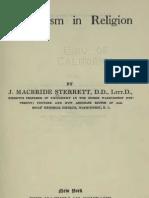 James MacBride Sterrett MODERNISM in RELIGION New York 1922