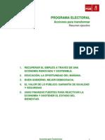 Programa Electoral REDUCIDO- 25M