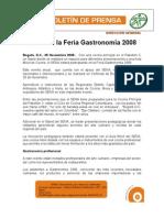 Boletin Gastronomía 2008