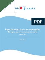 Especificacion Tecnica as Agua ETC 2011