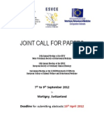 ESVCE-ECAWBM-2012 Call for Papers