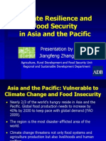 Presentation on Climate Resilience and Food Security in Asia and the Pacific 9 March 2012