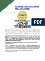 Cara Mendaftar Paypal Tanpa Kartu Kredit Yang Mudah Dan Cepat Bagian 2