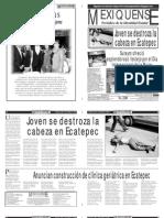 Versión impresa del periódico El mexiquense, edición 9 de marzo 2012